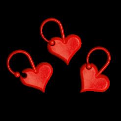 marqueurs tricot ouvrables marqueurs coeur