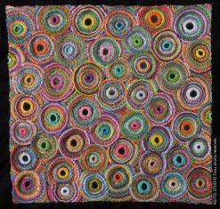 broder des miroirs cerclés de fils de toutes les couleurs sac centre de coussin Kit broderie carré Eshana par KEITO STUDIO