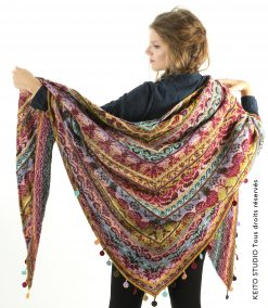 grand châle tricot motifs inspiration Muhu Kit châle Piret création KEITO STUDIO