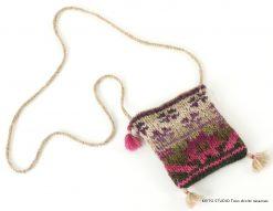 pochette à bandoulière tricot jacquard en rond Kit pochette Britt