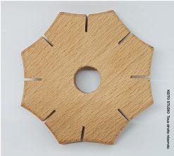 outil en bois de 7,5 cm de diamètre pour tresses et cordons